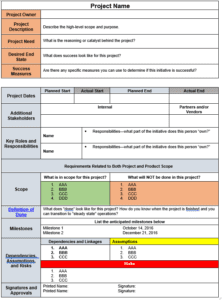 Project charter template the persimmon group project charter tempalte free from the persimmon group maxwellsz