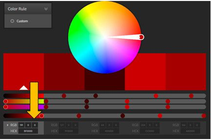 Example of Adobe's Color CC tool in use
