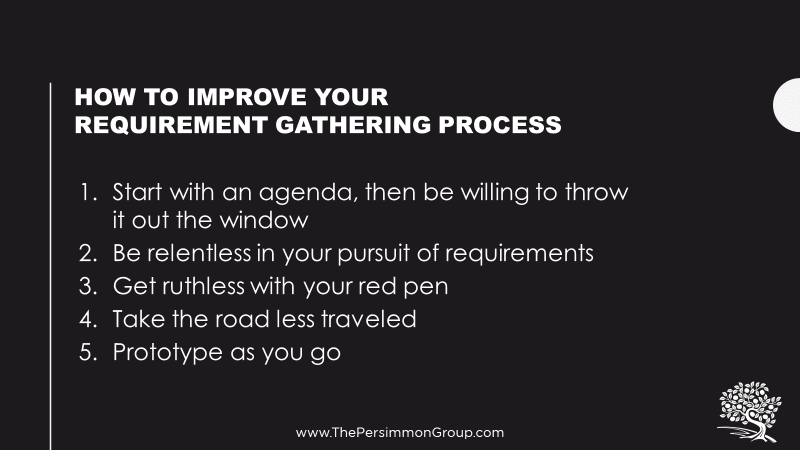 How to improve your requirement gathering process